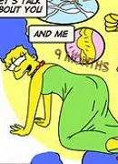 Lisa loving chained Smithers and bursting orgasm